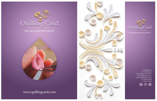 2016 catalog cover design for Quilling Card