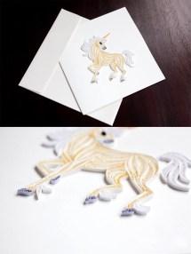 Unicorn greeting card design