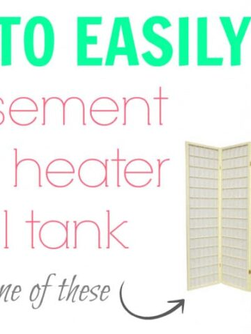 hide basement water heater and oil tank