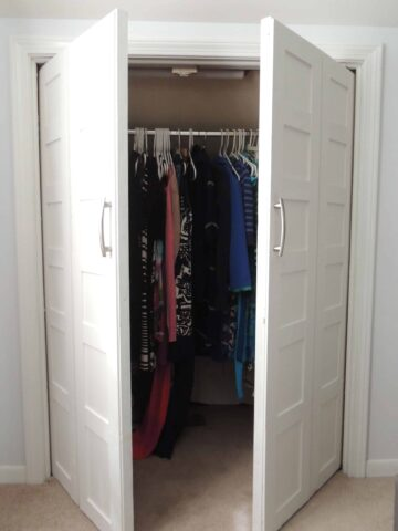 Convert bi-fold doors to swing out doors
