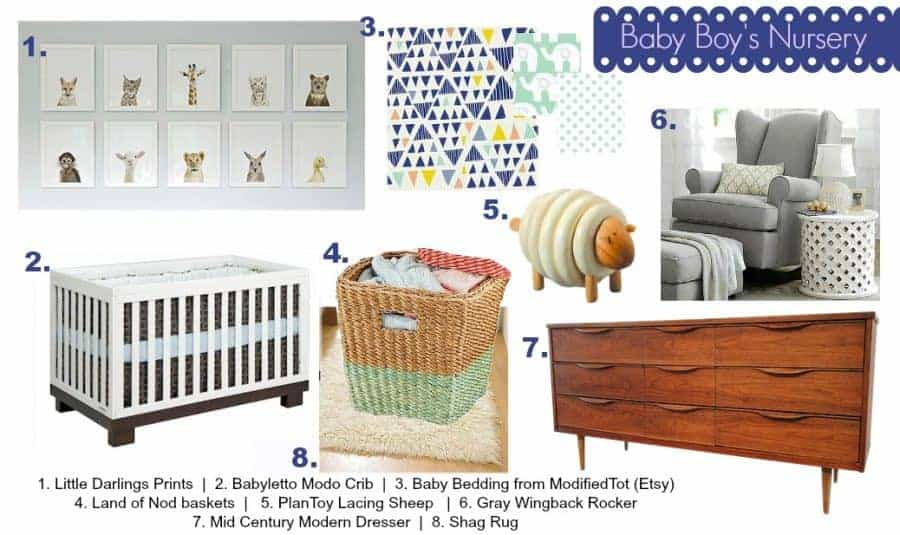 Our baby boy nursery mood board and inspiration for our baby's nursery