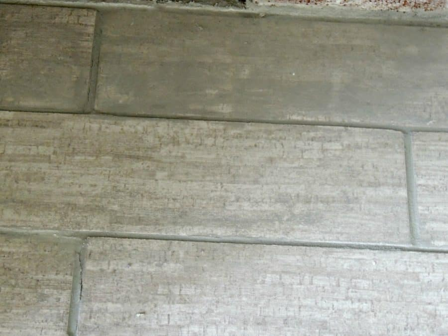 grouted tile light gray