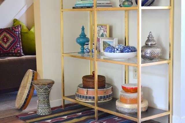 Gold leaf crafts: ikea etagere hack