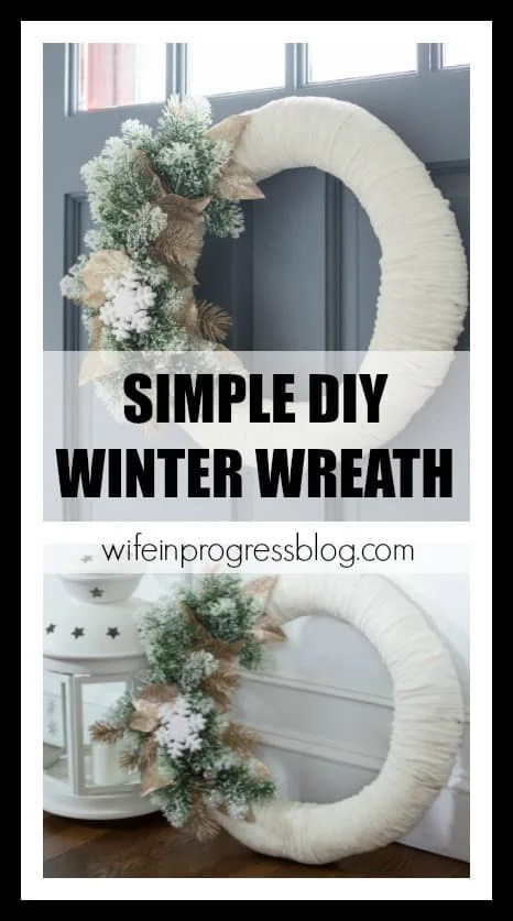 How to make a simple DIY winter wreath