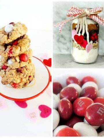 M&M's® Red Velvet valentine's cookies | wifeinprogressblog.com