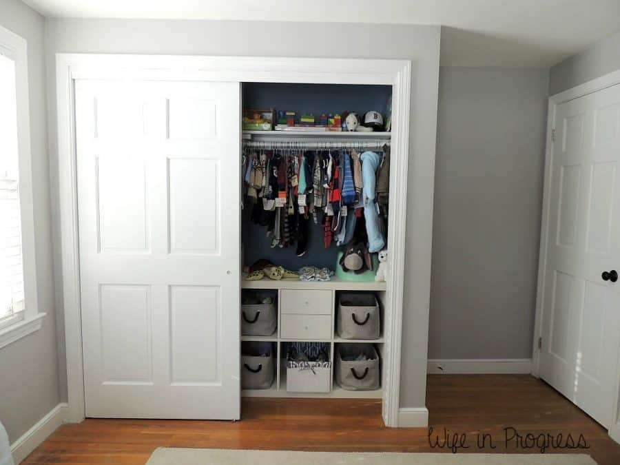 Closet organization in key in any baby nursery decor!