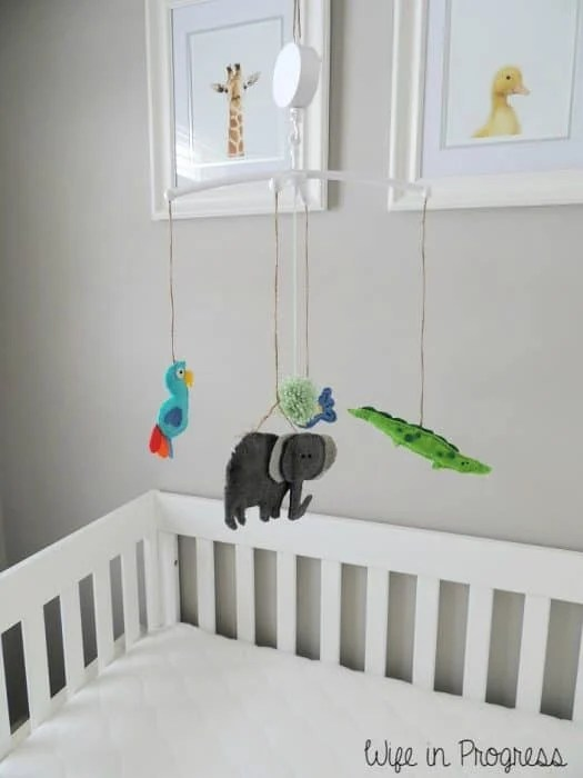 We love the adorable baby animals on this nursery crib mobile