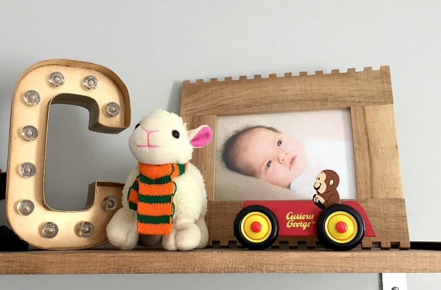 rustic nursery shelves