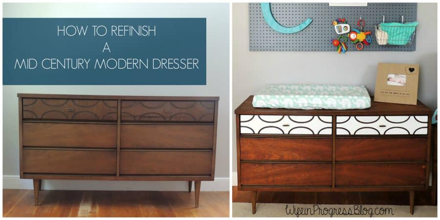 Refinishing a Mid Century Dresser