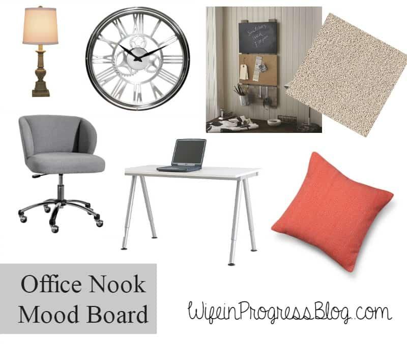 office nook mood board
