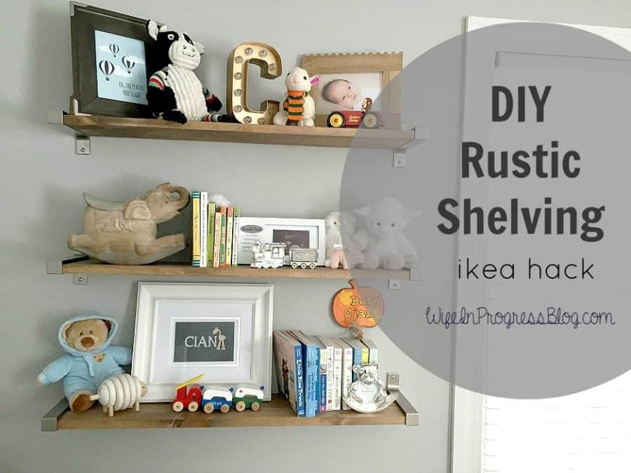 DIY rustic shelves | wife in progress