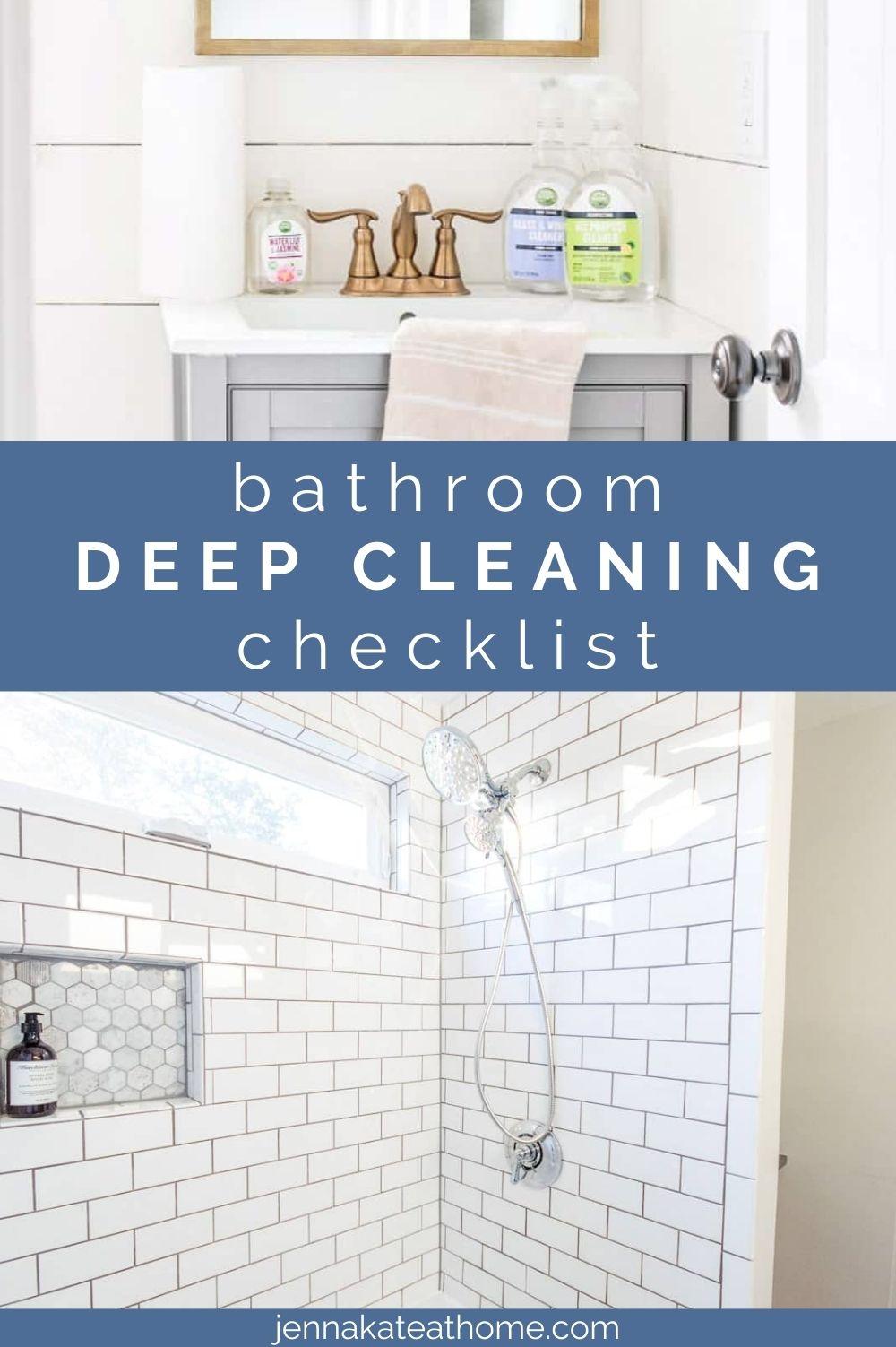 bathroom deep cleaning checklist