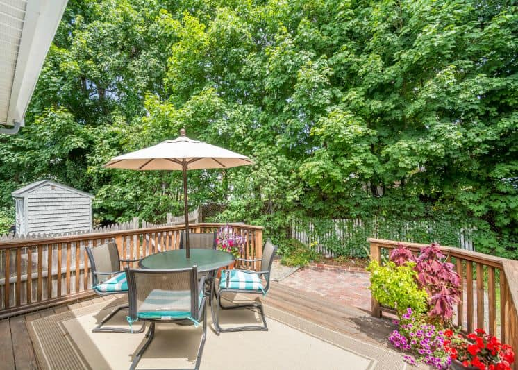 Every space gets staged to sell, including the patio and deck