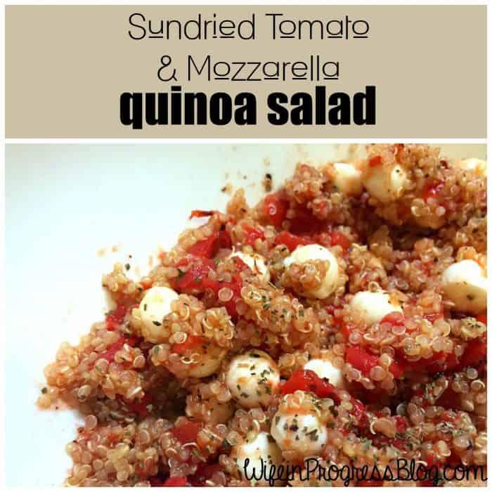 sundried tomato and mozzarella quinoa salad