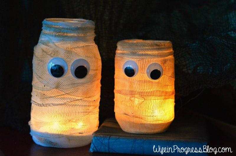 DIY Halloween Mummy Luminary