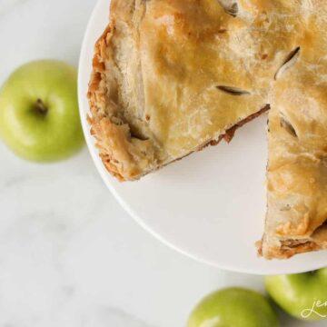 Easy puff pastry apple pie recipe