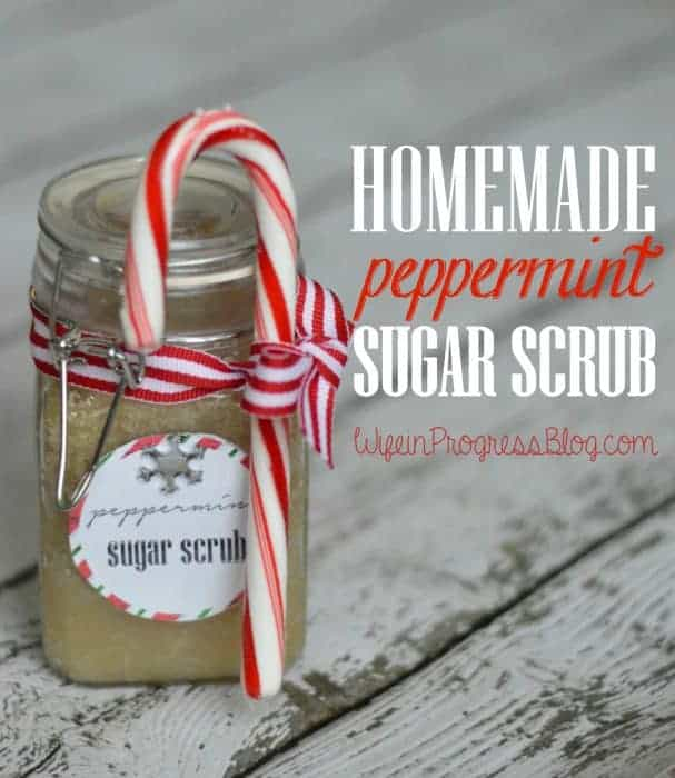 DIY handmade peppermint sugar scrub recipe
