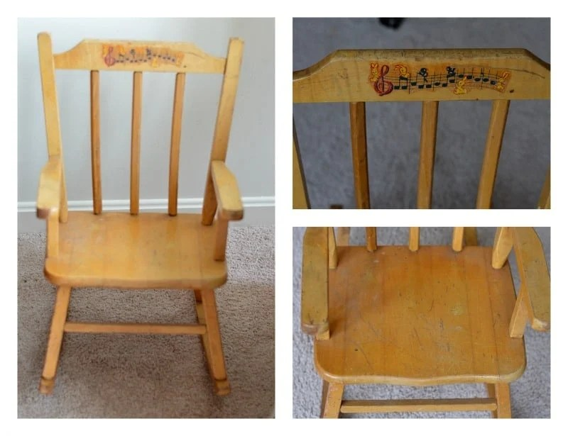 Rocking Chair Makeover with Velvet Finishes Paint