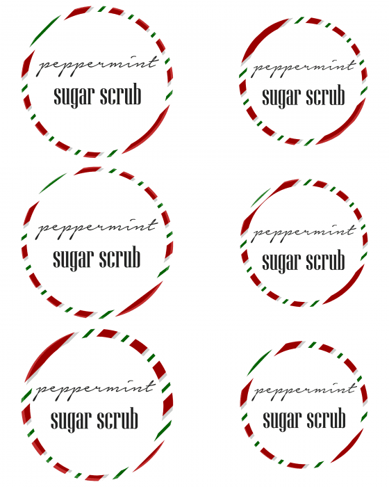 sugar scrub mason jar labels