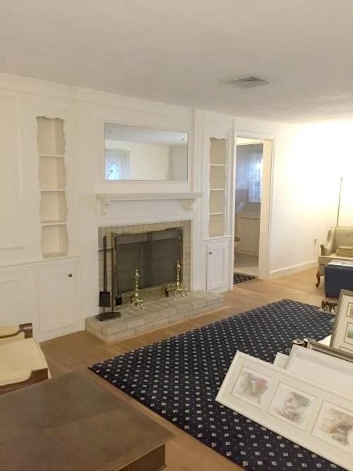 contemporary rustic living room