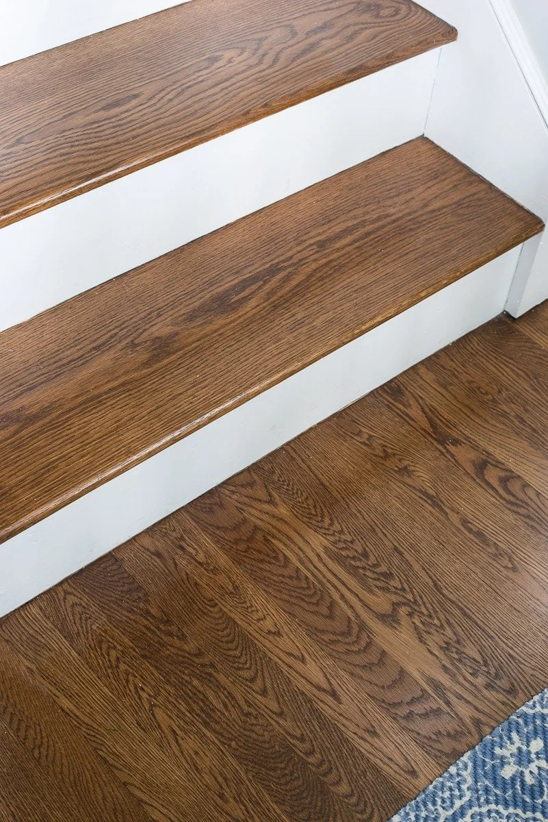 Provincial wood stain on stairs