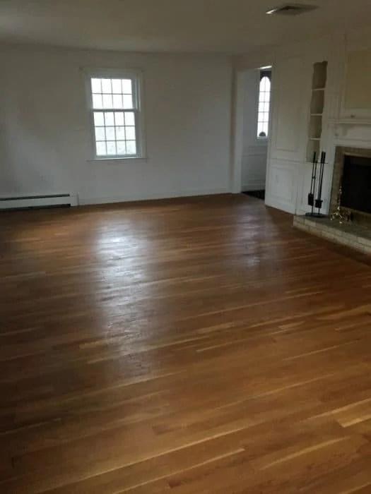 Old ambered white oak floors