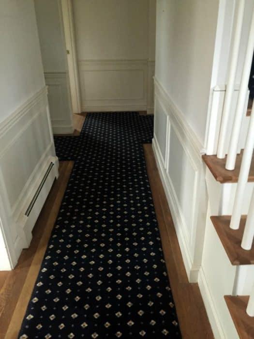 White oak hardwood flooring in hallway