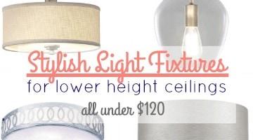 Stylish Light Fixture under $100