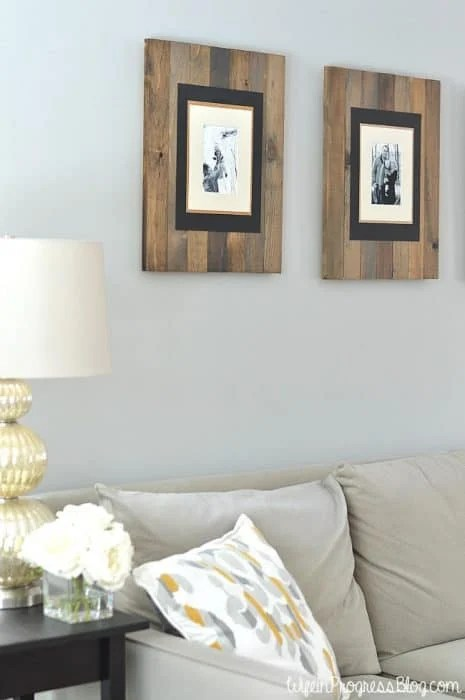 Simple DIY homemade picture frame ideas