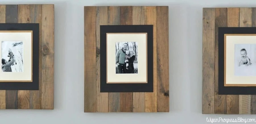 These DIY picture frames are simple to make with wood, cardboard and some stain