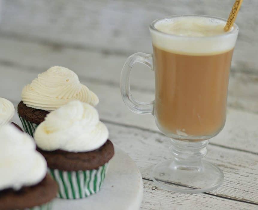Make these Irish Coffee cupcakes to celebrate St. Patrick's Day