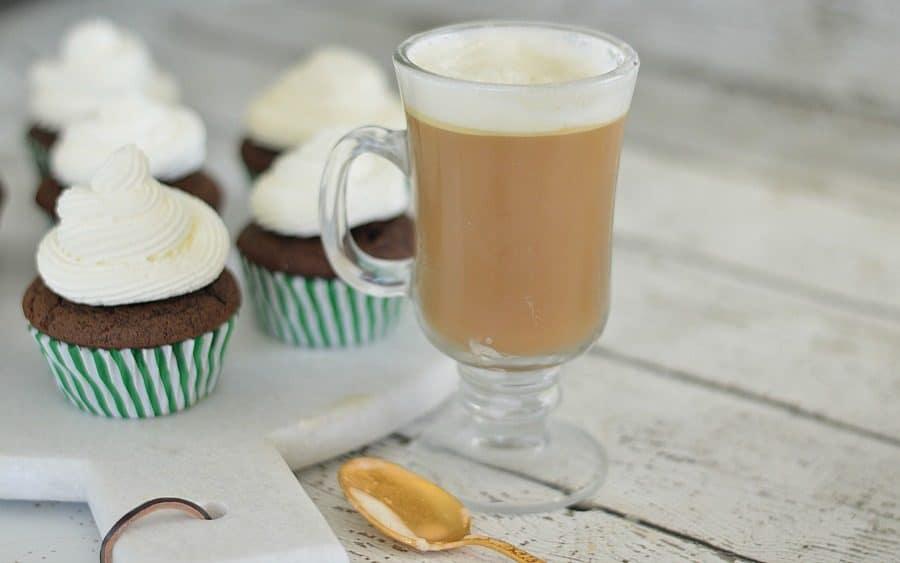 Irish Coffee cupcakes are inspired by the classic Irish coffee drink with whiskey and baileys irish cream