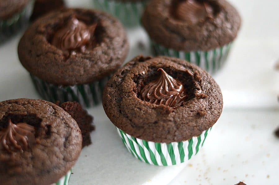 These Irish Coffee cupcakes are filled with a sinfully sweet whiskey chocolate ganache