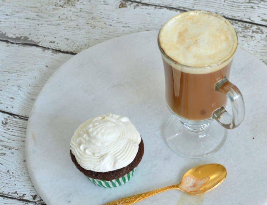 Serve these delightfully sweet Irish Coffee cupcakes along side a glass of classic Irish coffee