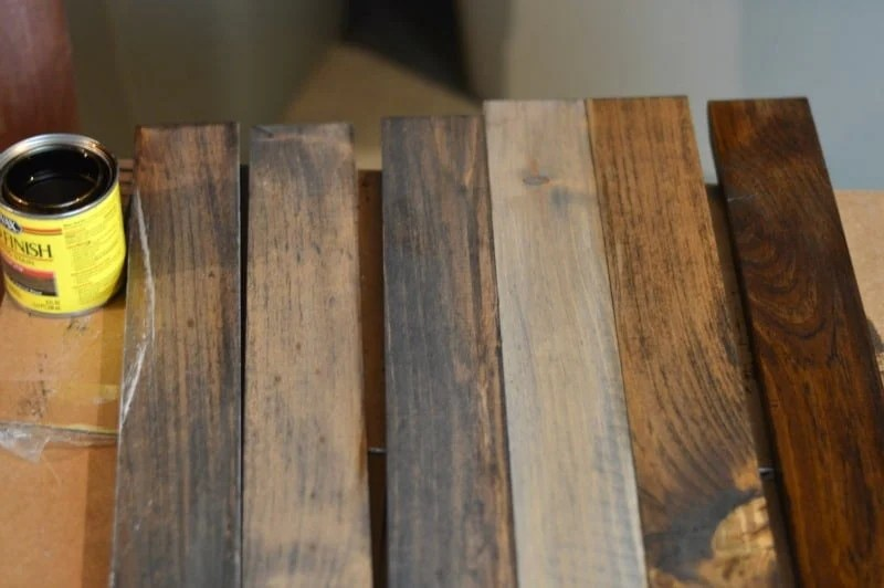 How to stain wood to look rustic