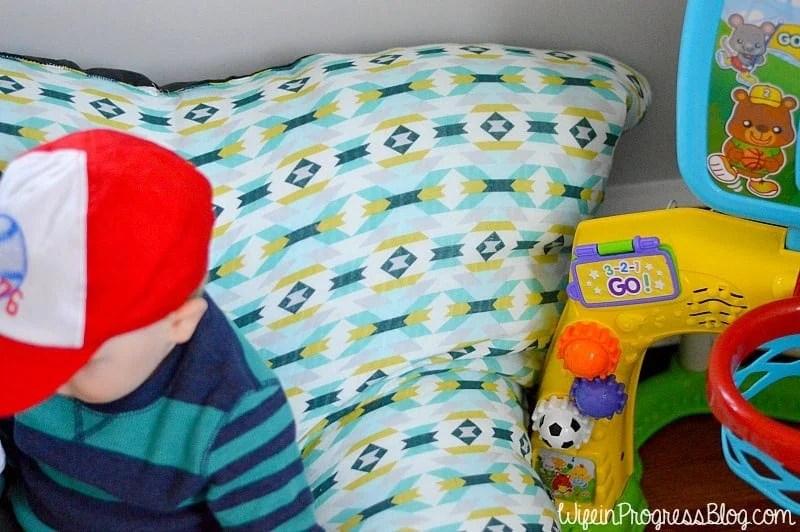 DIY Toddler Bean Bag Chair