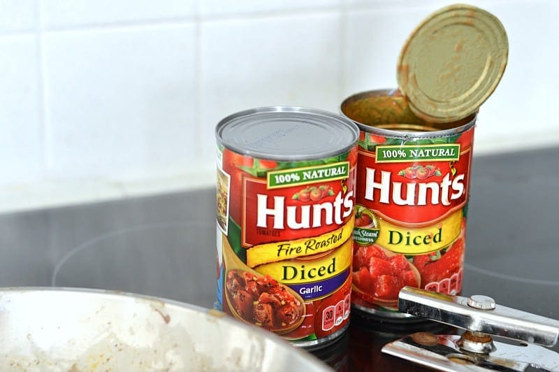 Hunt's tomatoes for the chili recipe