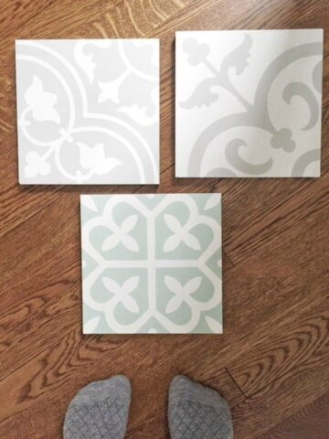 cement tile one room challenge