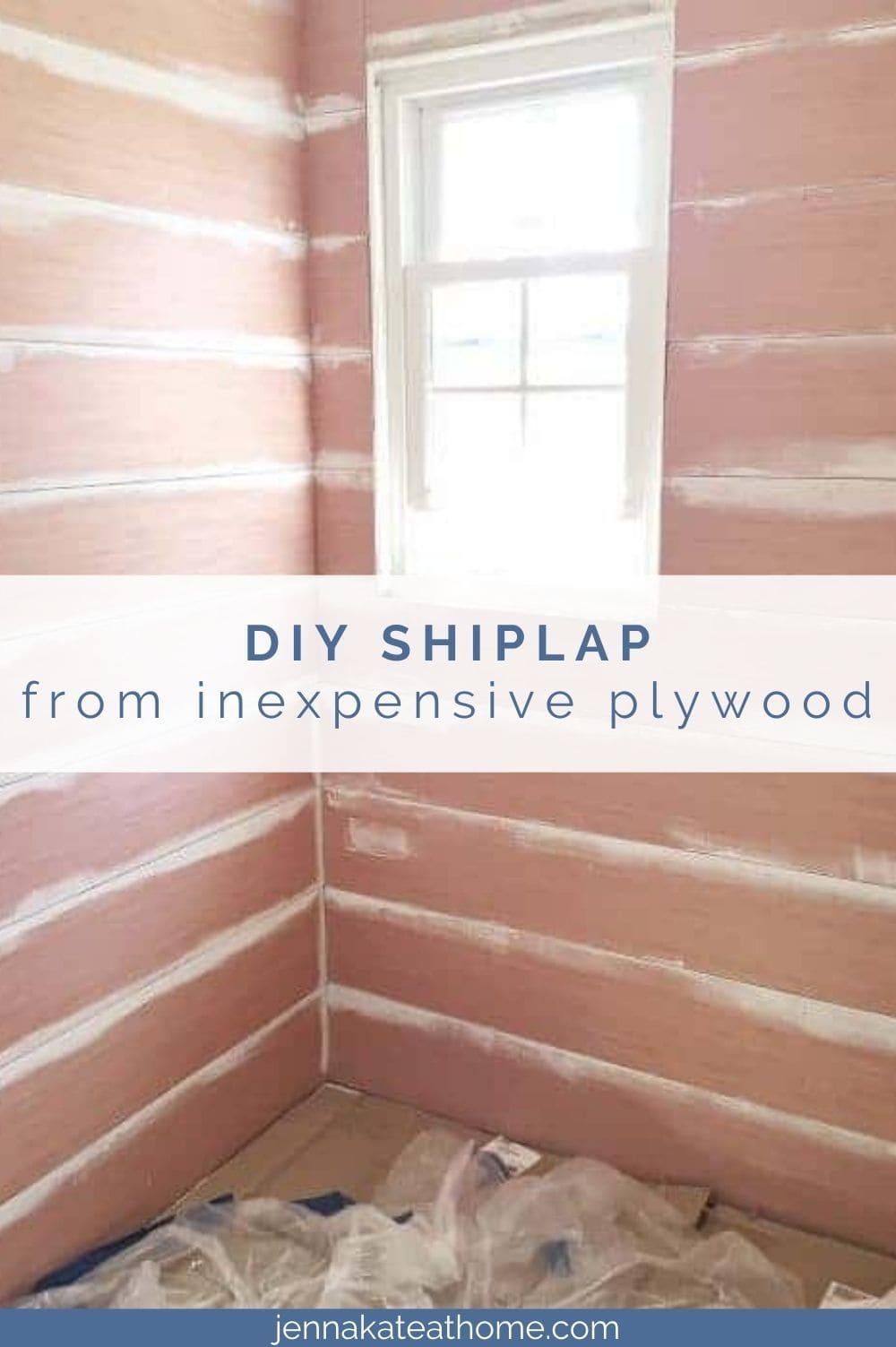diy shiplap walls from plywood