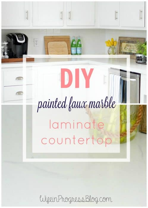 Faux Marble Painted Laminate Countertop