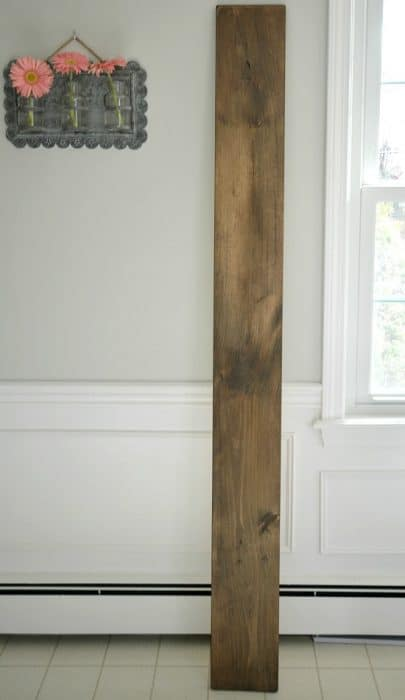 Stained wood for life size ruler