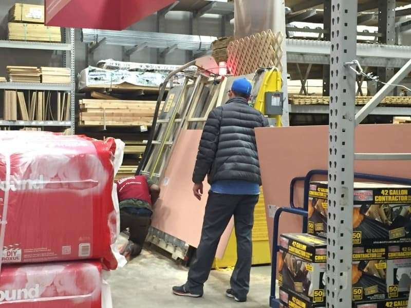 Get plywood cut for free at Lowe's