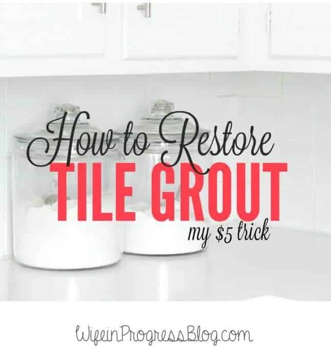 Here's how to restore grout in your kitchen (or bathroom) for just $5!