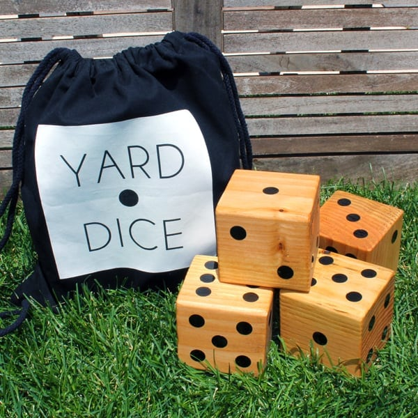 This DIY yard dice set is the perfect DIY father's day gift for any dad that loves backyard games