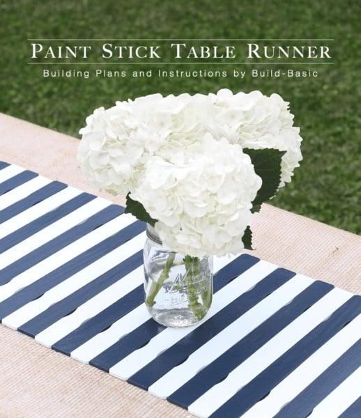 4th july decor paint stick runner