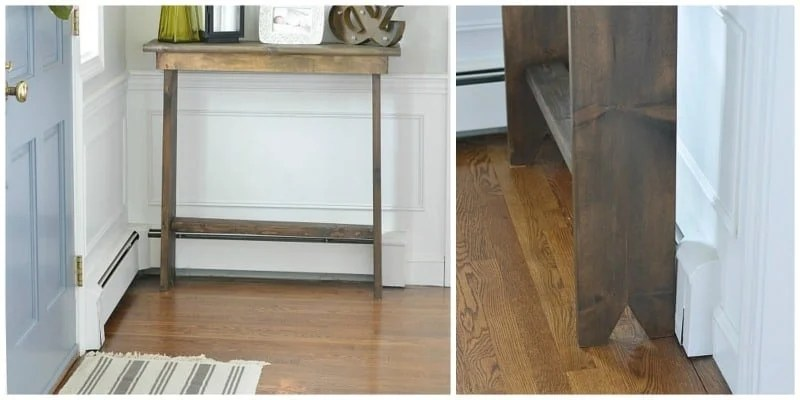 This DIY hallway console table only cost $30 to make