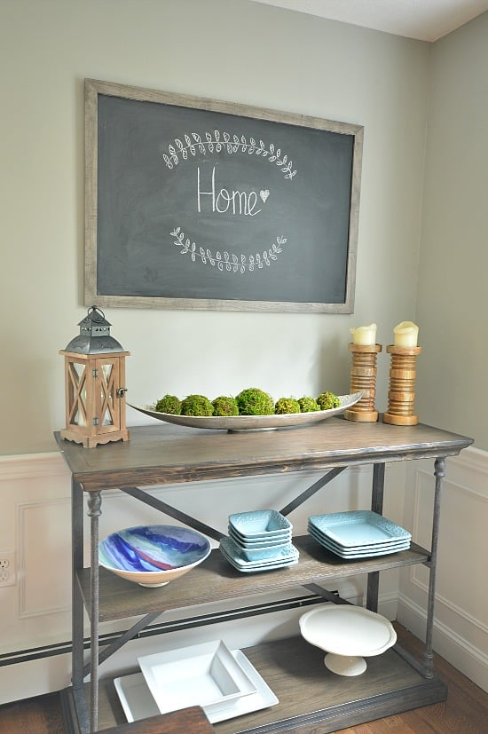This DIY Framed Chalkboard is simple and cheap to make and adds a wonderful farmhouse feel.