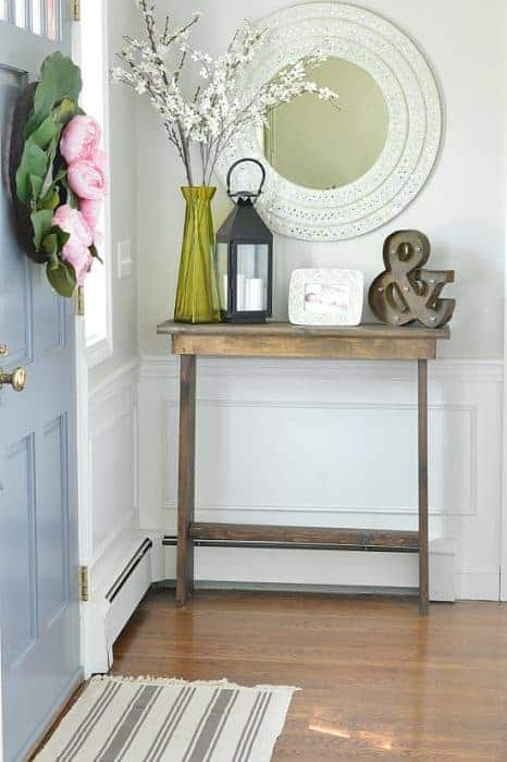 How To Make A Diy Hallway Console Table A Full Step By Step Tutorial