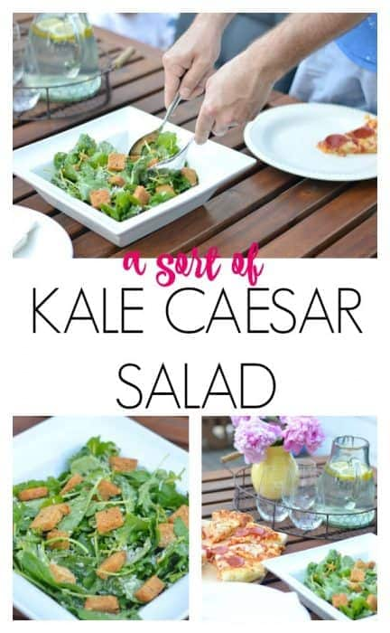 Kale Caesar Salad with Home Made Dressing