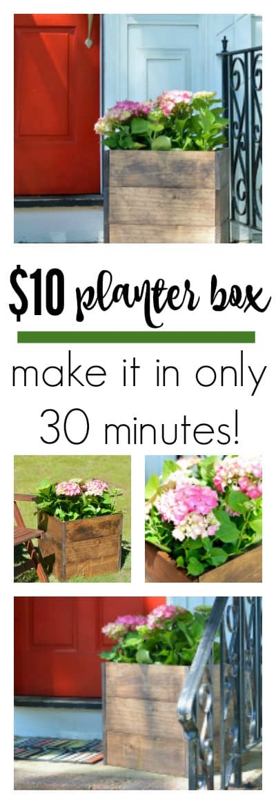 Make this DIY Wood Planter Box for only  and in only 30 minutes! Easiest project ever!